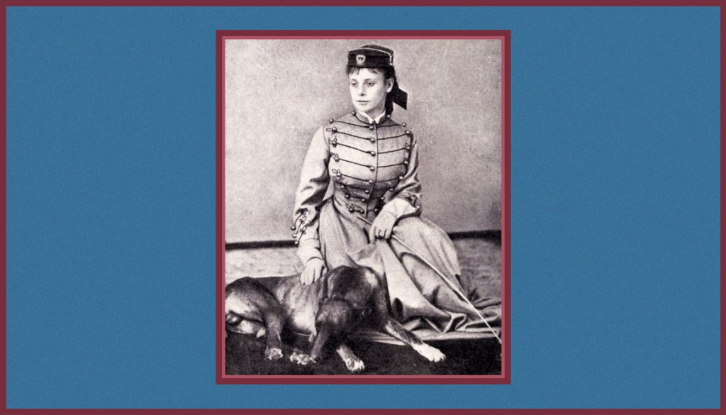 Frances Roe and her dog