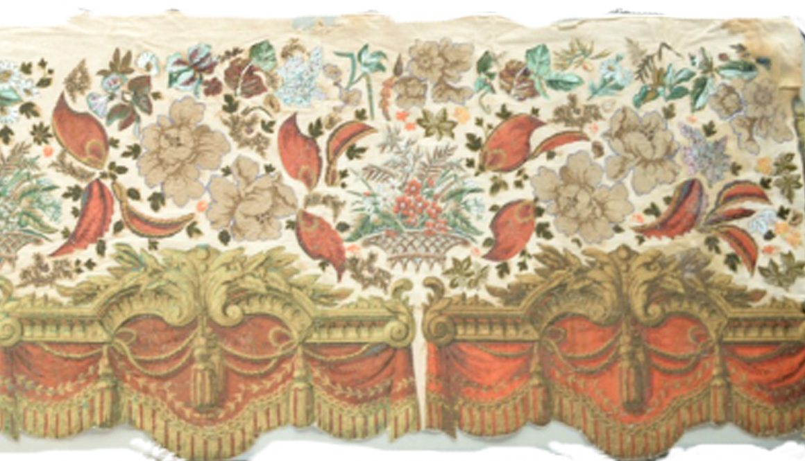 Valance made by Sarah Harper Monmouth