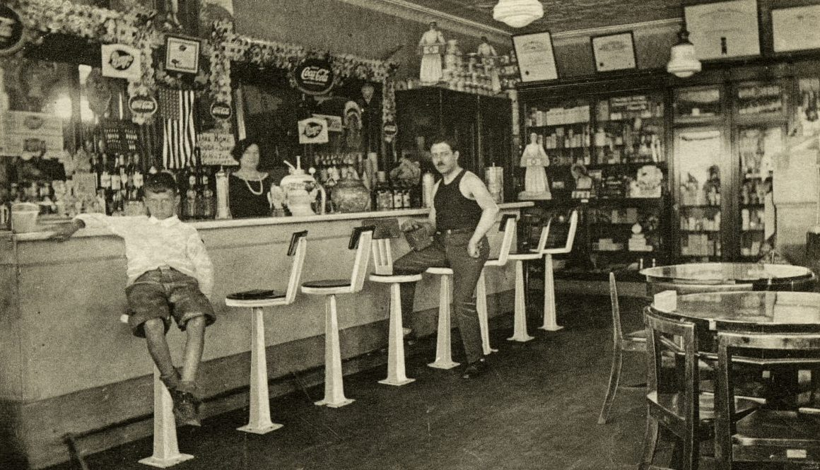 Old fashioned soda fountain