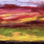 Painting of sunset