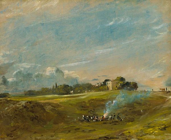 John Constable, painting of bonfire