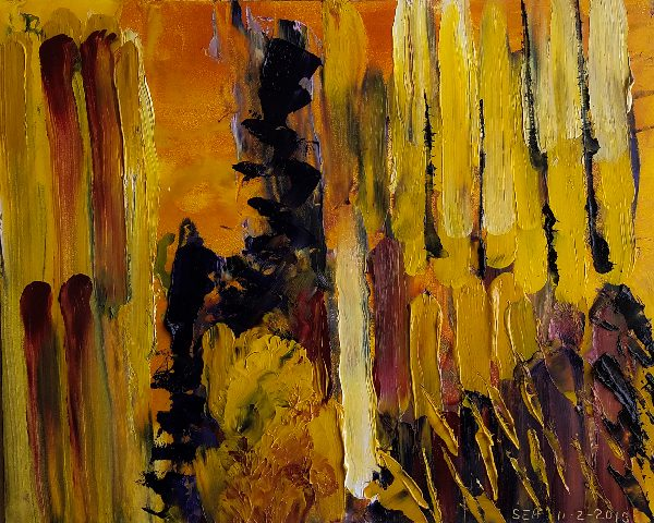 Abstract Painting in Yellows