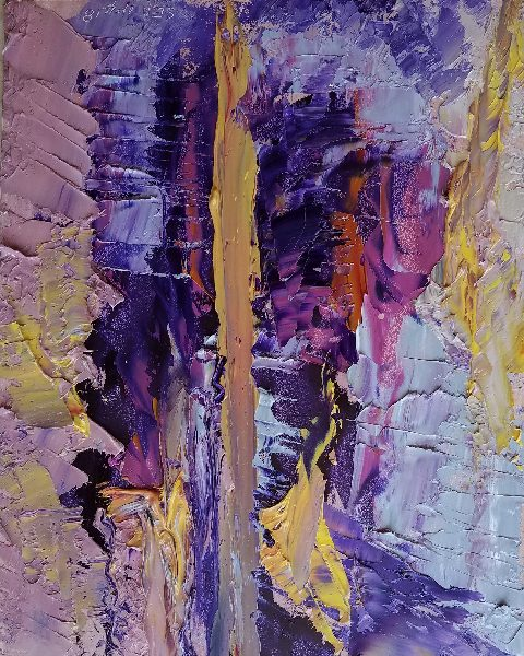 Abstract painting, purples