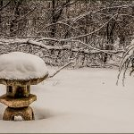 Photo of snow on garden ornament