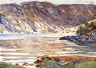 lake painting by John Singer Sargent
