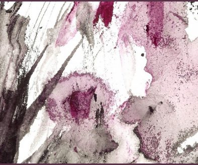 watercolor painting with granulation