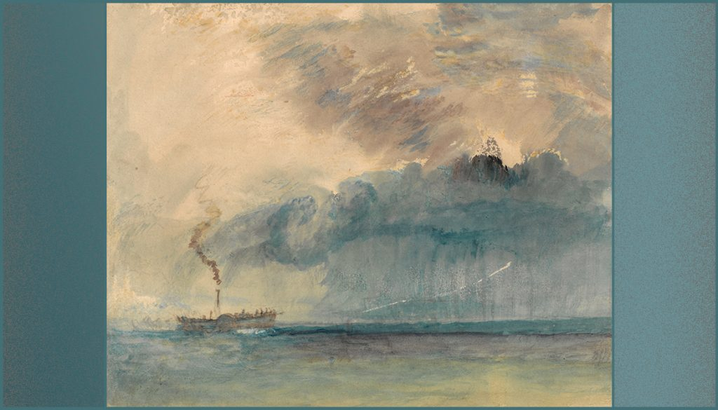 watercolor of steamboat
