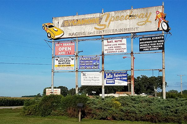 Old sign for Speedway