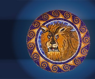 Lion head mosaic