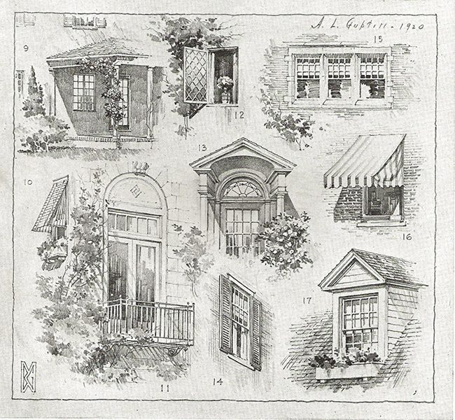 pencil sketches of windows