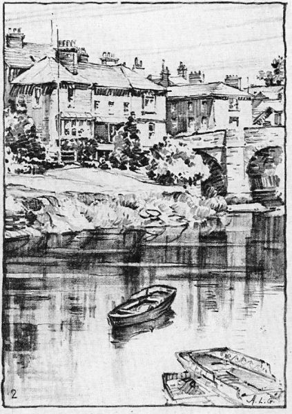 Sketch of Wye River and boat by Arthur Guptill
