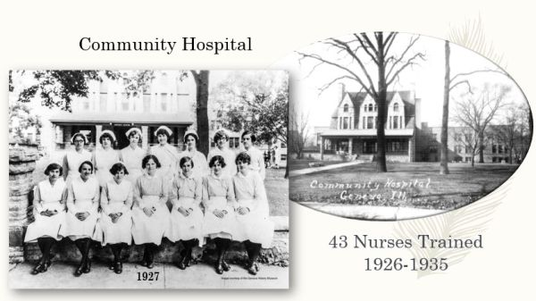 Photo of nurses 1927